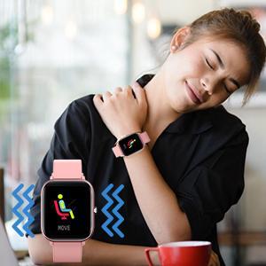 Auto Sleep Tracker & Silent Vibration Alarm Clock Sedentary Reminders