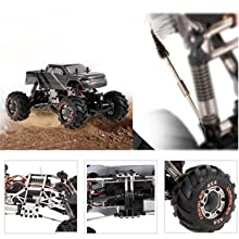 1:24 Scale Rock RC Crawler, 2.4GHz Remote Control Car for Kids and Adults, 4WD Off Road Truck