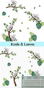 koala bear wall stickers baby nursery decor kids room