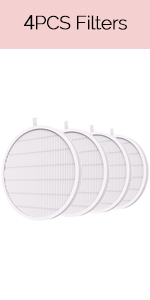 4pcs Nail Dust Collector Replacement Filters