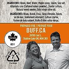 Buff Ingredients List