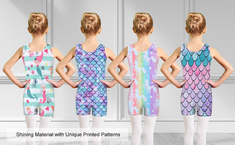 Leotards with different patterns