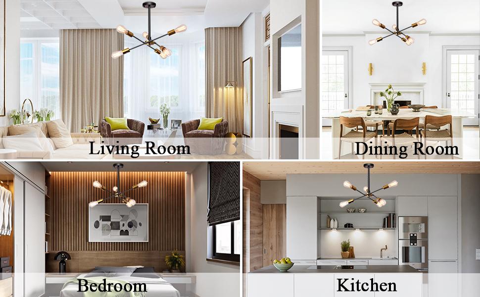 chandelier lighting fixture for living room,dining room, bedroom and kitchen
