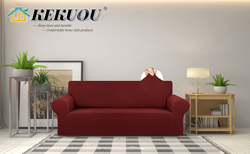 Dark Red sofa cover L/XL/XXL A+2
