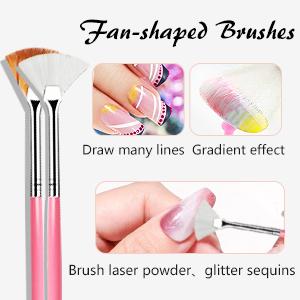 Fan-shaped Brushes