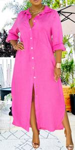 Women V Neck Rolled Up Sleeve Lining Dress