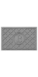 Monogrammed Customizable Doormats by Bungalow Flooring with Waterhog Technology