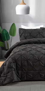 black pintuck comforter set