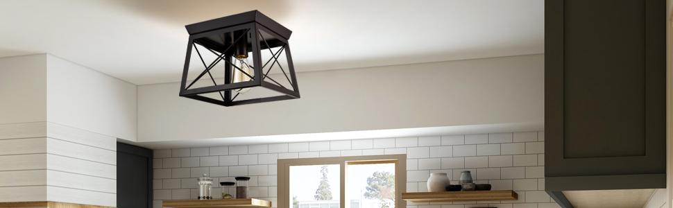 farmhouse flush mount ceiling light