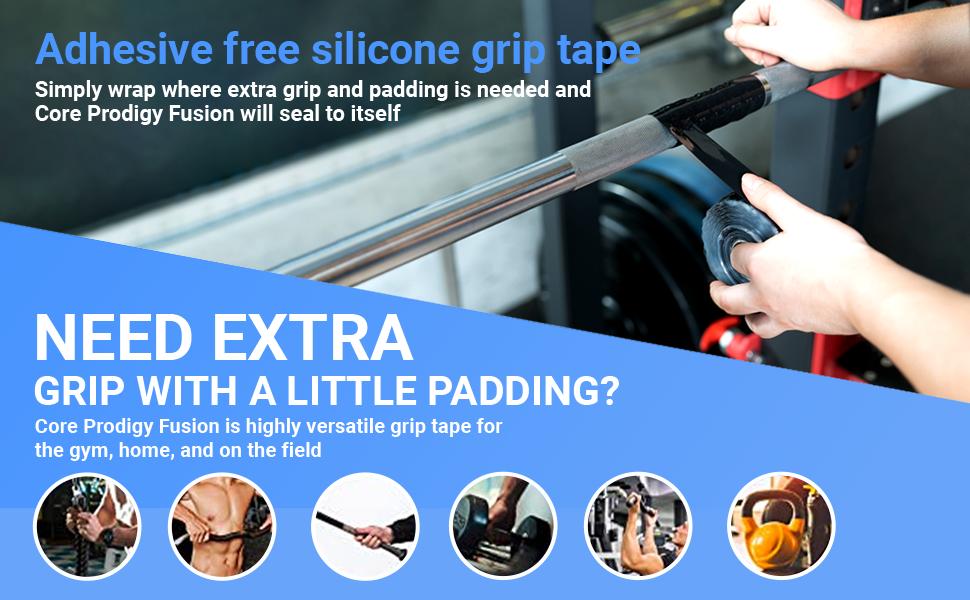 Adhesive Free Silicone Grip Tape