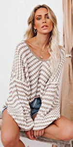 Womens Deep V Neck Sweaters