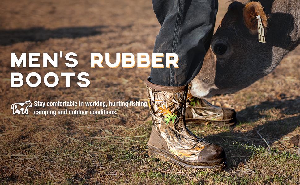 mens rubber boots waterproof