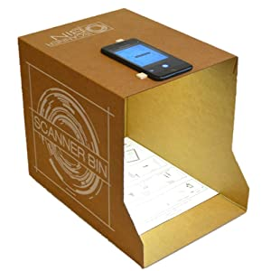 scan documents with smartphone and scanner bin
