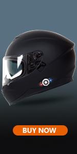 BM22 Matte Black Bluetooth Motorcycle Helme