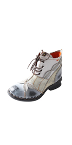 ankle boots chunky heel leather boots Non-slip