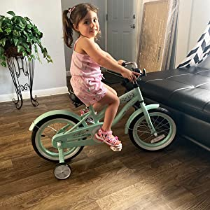 green girl bike