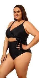 plus  size  cutout swimsuit