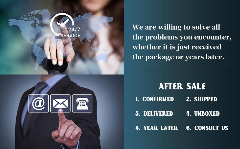 We are willing to solve all the problems you encounter.