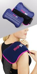 2 x Reusable Ice Packs for Injuries with Adjustable Wrap-Around Strap