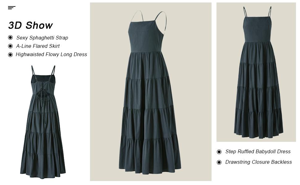 summer casual flowy dress babydoll dress