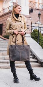 Londo Pismo Genuine Leather Tote Bag
