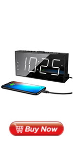 Loud LED Digital Alarm Clocks for Bedrooms Bedside with Snooze Digital Clock for Heavy Sleepers