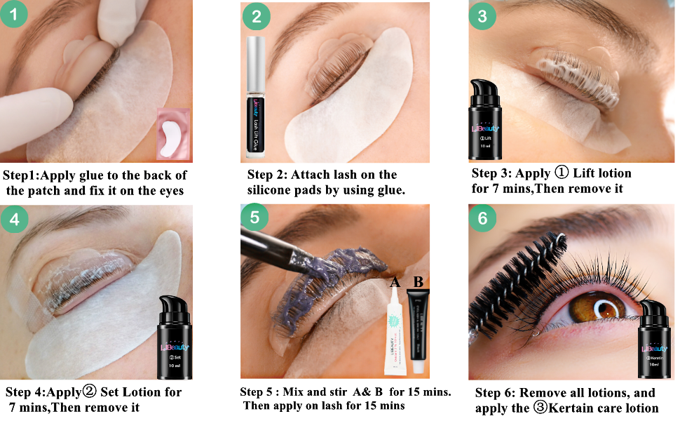how to use lash lift and tint