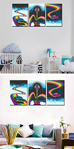 1960s car rainbow 1970s abstract album cover art autmbile banner clouds design  drawing element
