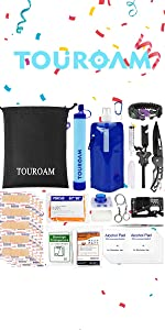 Survival Water FIlter Kit with Tatcical Admin Pouch
