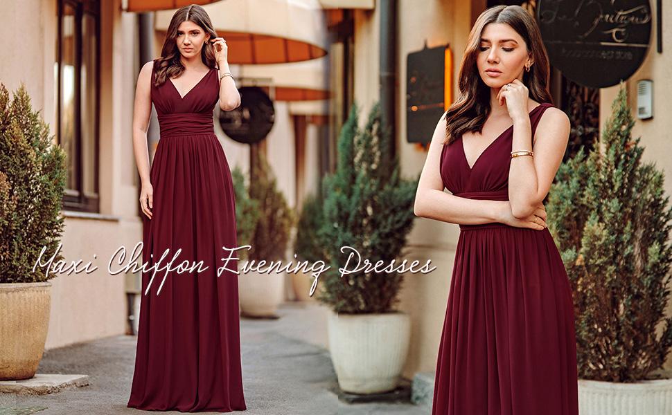 Ever-Pretty Womens Evening Dresses Formal Dresses Prom Party Dresses Wedding Guest Dresses chiffon