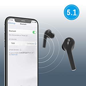 Bluetooth Wireless Earbuds 5.1 Magnetic Earphones Lightweight Ear Buds Mic Stereo in-Ear Headphones