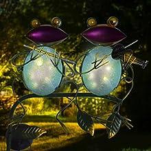 hot melt glass process of frog solar garden lights