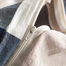 duvet cover zipper closure
