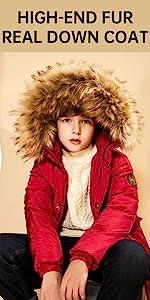 real down coat