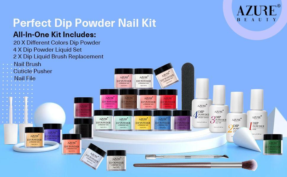 20 Colors Dip Powder Nail Kit Starter