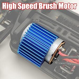 High speed brushed motor