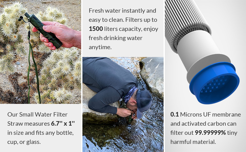 water filter straw