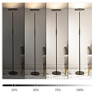 Lampadaire à intensité variable