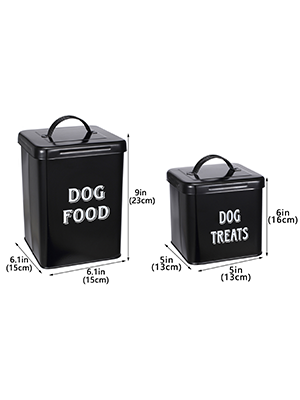countertop containers dog food