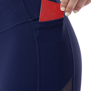 navy mesh legging with pockets
