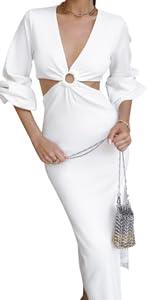 Side Split Cutout Dress