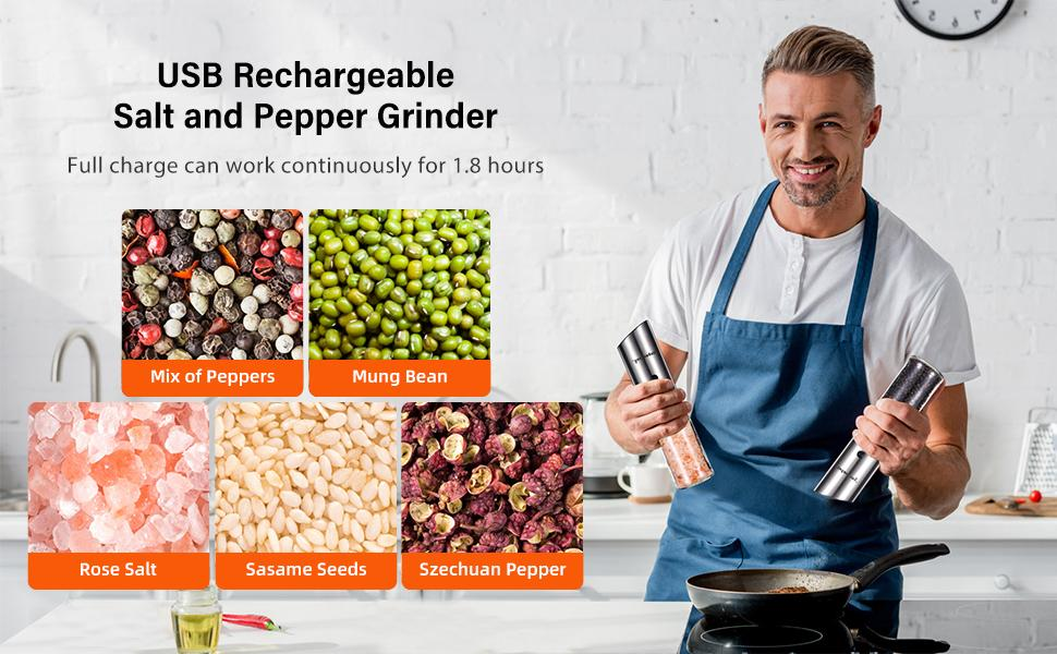 rechargeable electric pepper grinder