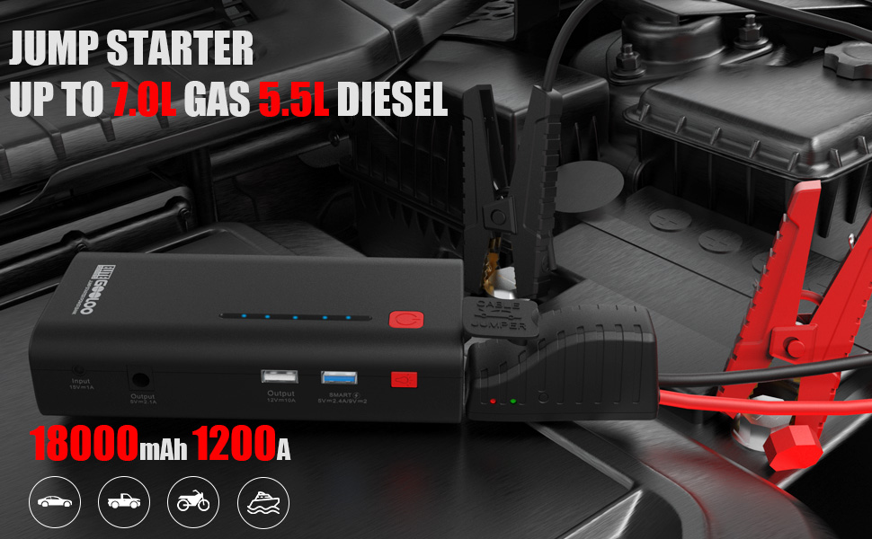portable car jump starter  battery pack