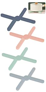 Foldable Silicone Trivets - Non-slip amp;amp;amp; Heat-Resistant