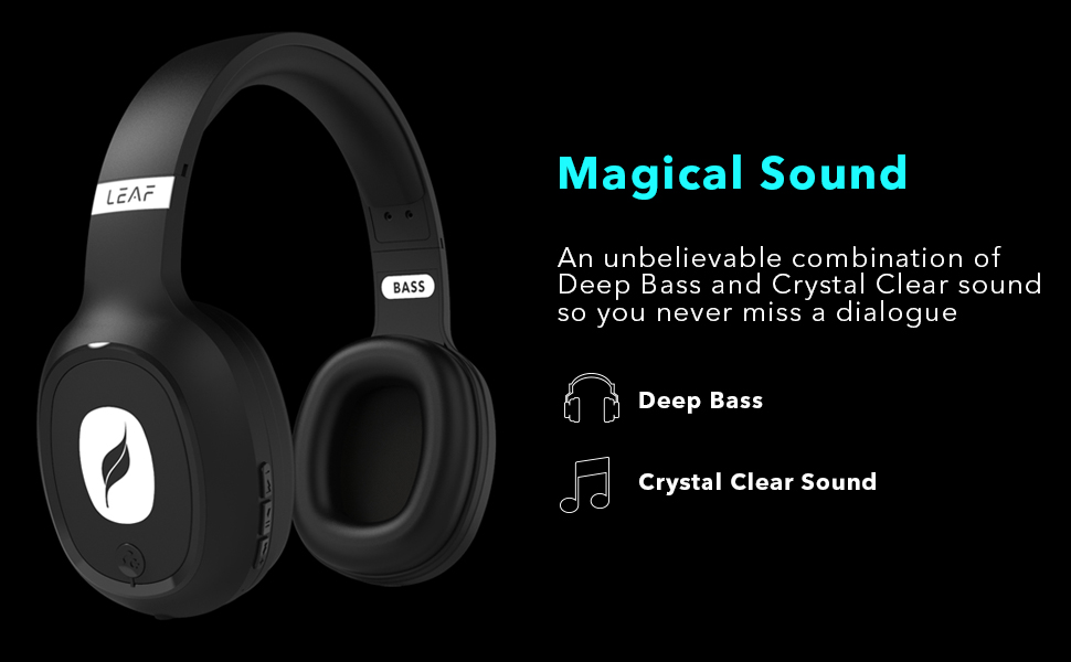 Deep Bass and Crystal clear sound quality headphones