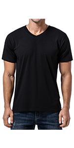 Menamp;#39;s Bamboo V Neck T-Shirt cotton lightweight short sleeve orangic natural Soft shirt tee
