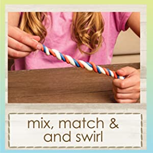 Mix, match, and swirl the clay