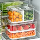 The stackable design makes full use of the internal space of the refrigerator