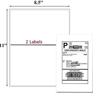 half sheet labels