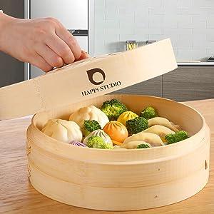 vegetable steamer basket veggie steamer asian steamer for cooking bao buns pork buns rice